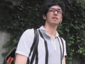 【ゲイ動画ビデオ】「AVの撮影に興味ありません?」路上でオシャレノンケに声をかけ自慰の様子を撮影させてもらいました!