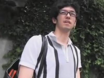 【ゲイ動画】「AVの撮影に興味ありません?」路上でオシャレノンケに声をかけ自慰の様子を撮影させてもらいました!