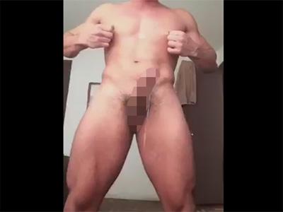 【無修正ゲイ動画】マッチョな男が乳首刺激だけで絶頂しザーメンを噴き出す姿を楽しむことができちゃう!