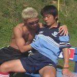 【ゲイ動画】18歳のノンケサッカー部員が野外でゴーグルマンの寸止めフェラや手コキに射精感を抑え切れずザーメンを暴発!