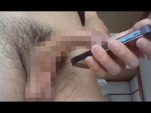 【無修正ゲイ動画】血管バキバキの下反りのエロチンポでスマホゲーのガチャを引く!そしてその結果は…