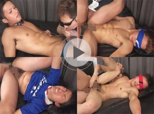【無修正ゲイ動画】イケメン体育会系男子の裏バイト!鍛えられた肉体とチンポとアナルを差し出しホモビデオでお小遣いゲット!