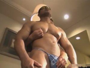 【ゲイ動画ビデオ】軍隊にいそうなゴリゴリのマッチョの2人がアナルセックスで愛し合う姿が見られる!