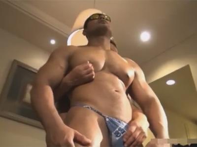 【ゲイ動画】軍隊にいそうなゴリゴリのマッチョの2人がアナルセックスで愛し合う姿が見られる!